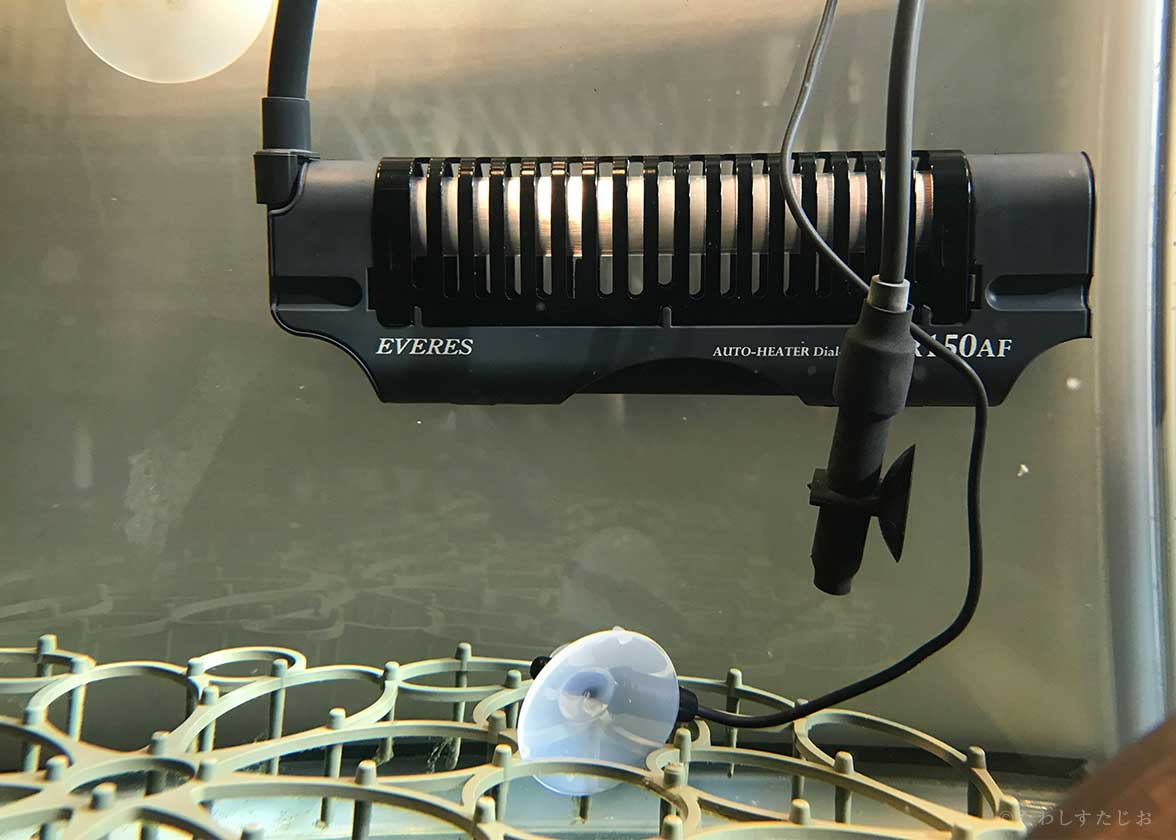 ズレたヒーターやはがれた吸盤の実例